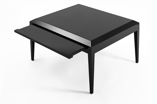 Dunand Inspired Black Laquered Tables