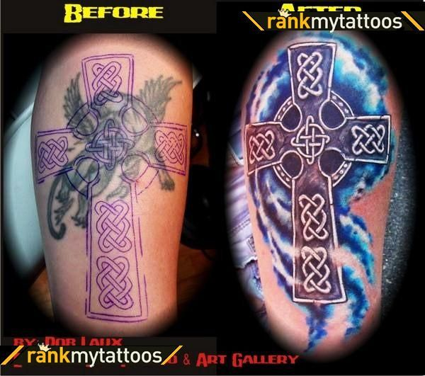Celtic Cover Up Tattoo Celtic Cross Coverup Celtic Cross Tattoo