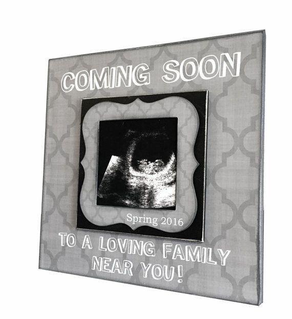 Pregnancy Reveal Idea Sonogram Photo Ultrasound Picture Frame