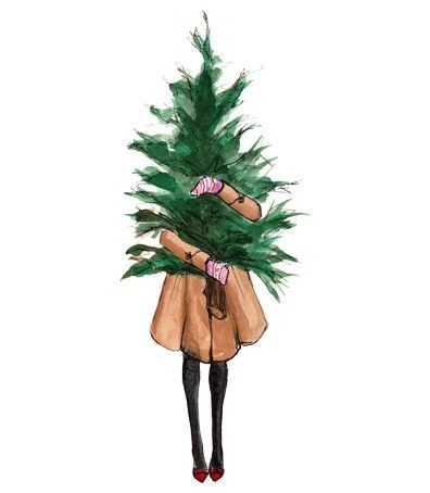 Fashion Illustration Illustration Pinterest Fashion - decorative christmas trees