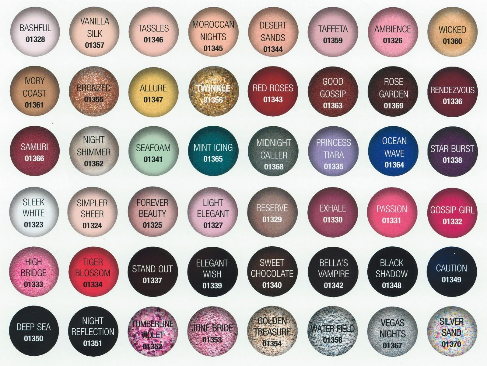 Most popular opi colors thing about all of these colors is gelish nail color chart i must print for my display nvjuhfo Images