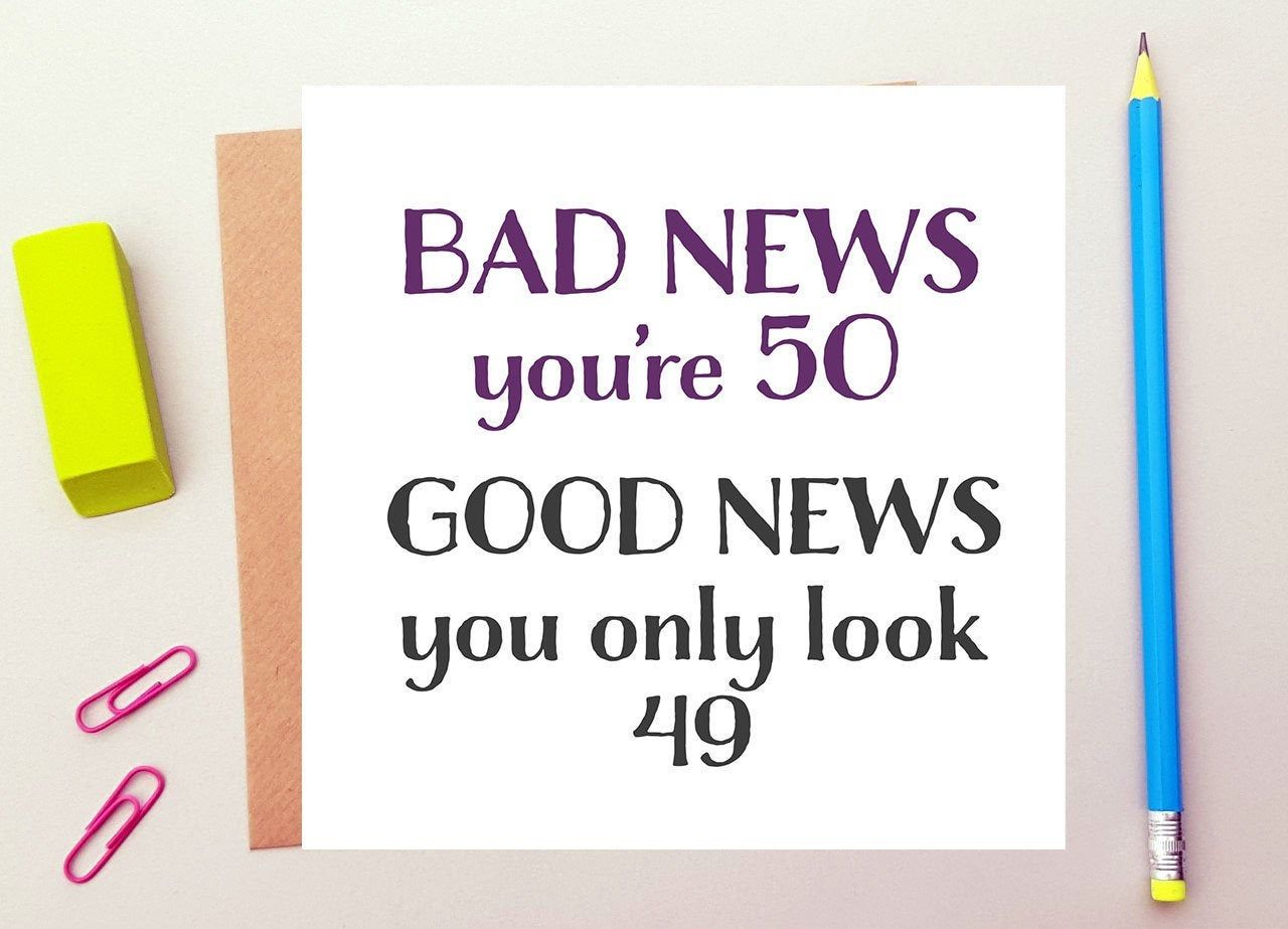 Pin On Funny 50th Birthday Cards