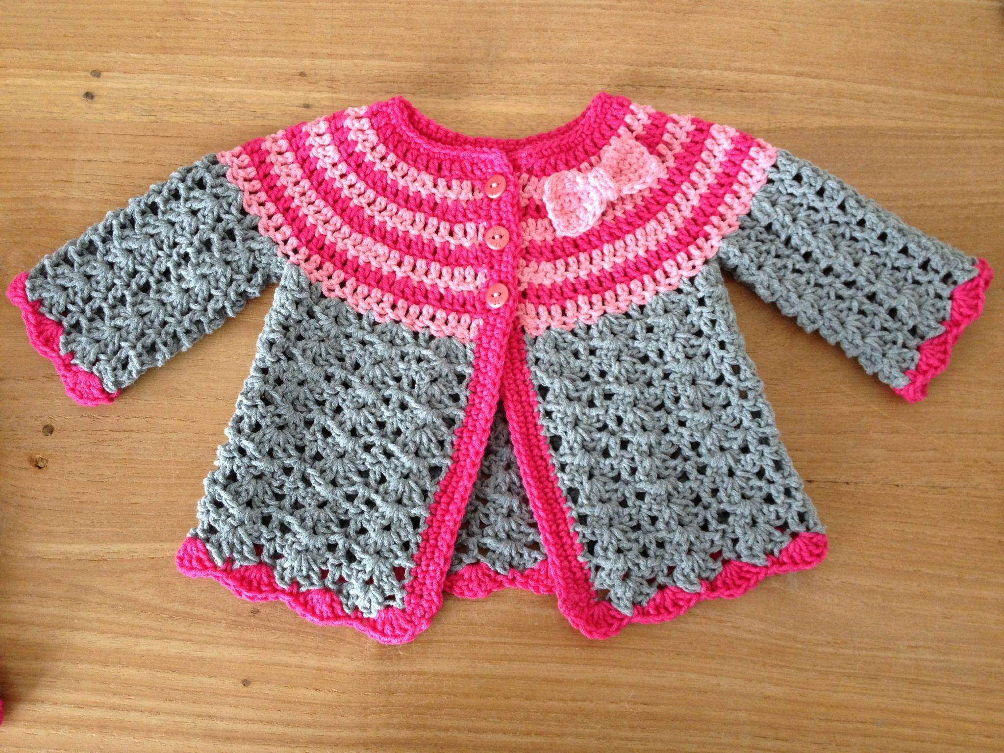 Vestje Voor Baby Maud Háčkování Pinterest Babies Crochet And