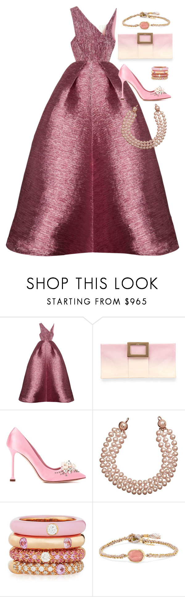 """""""Untitled #647"""" by victoriaam99 ❤ liked on Polyvore featuring Alex Perry, Roger Vivier, Miu Miu, Chanel, Adolfo Courrier and BROOKE GREGSON"""