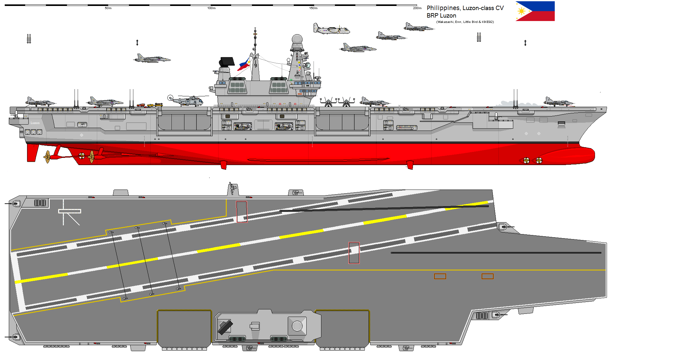 Philippines Luzon Class Cv By Pjackaugusto On Deviantart Aircraft Carrier Aircraft Design Army Vehicles