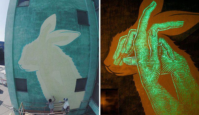 граффити люминисценция, румыния, стрит-арт  http://gopakfilms.com