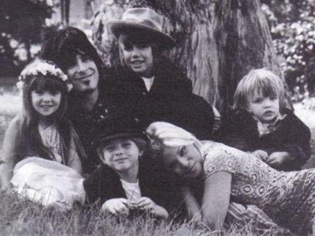 Nikki Sixx and Brandit Brandt with kids