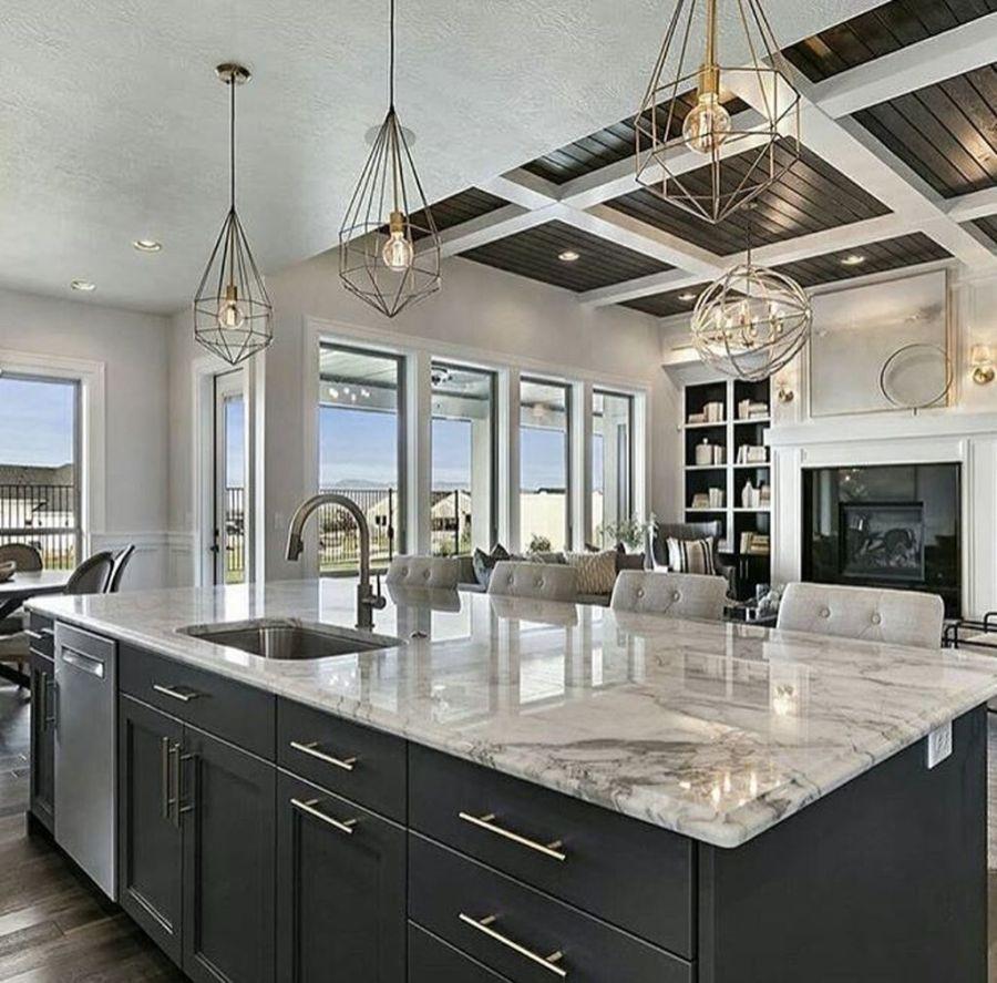 34 Admirable Luxury Kitchen Design Ideas You Will Love Homepiez Luxury Kitchen Design Dream Kitchens Design Interior Design Kitchen