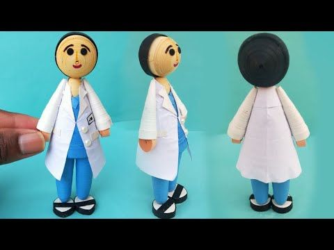 Paper Doll Crafts - How to make paper doll (Doctor