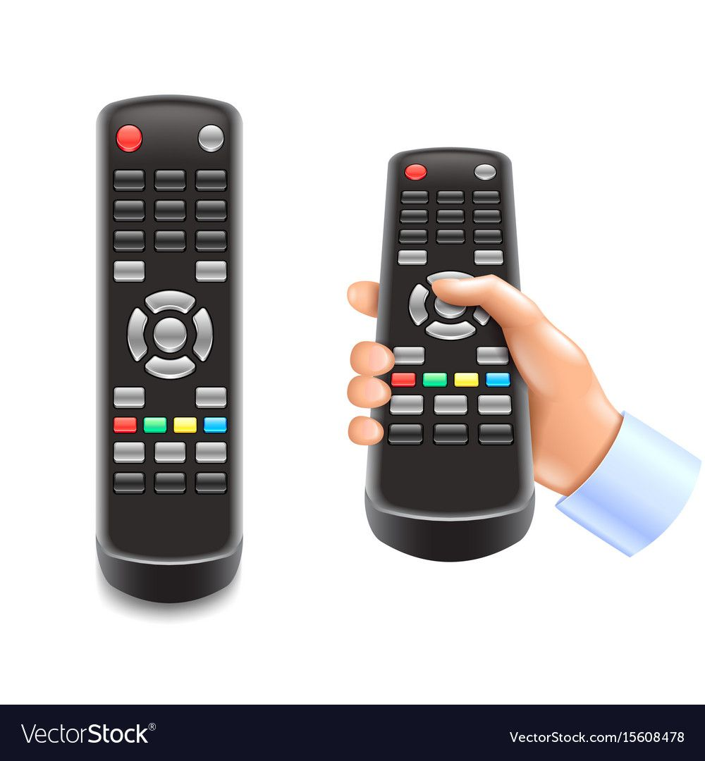 Remote Control Tv Isolated On White Photo Realistic Vector Illustration Download A Free Preview Or High Quality Adobe I Remote Control Remote Beads Of Courage