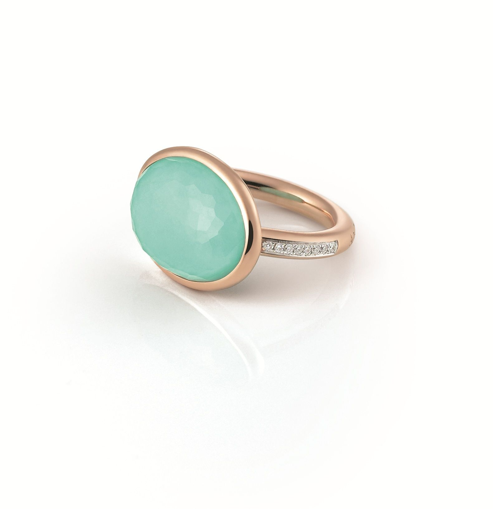 Al Coro Candy Collection 18ct Rosegold Turquoise