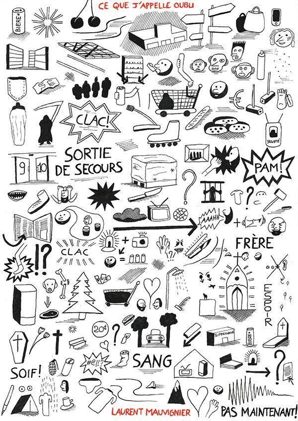 Illustration à la manière de Jochen Gerner