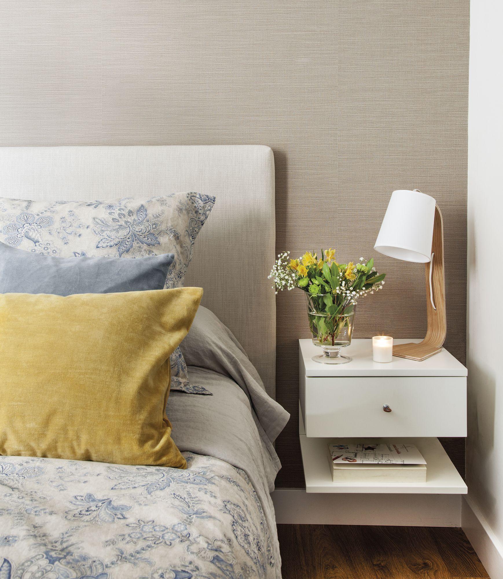 Junto a la cama decoraci - Mesitas de noche colgantes ...