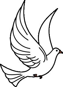Dove bird. Flying clip art at