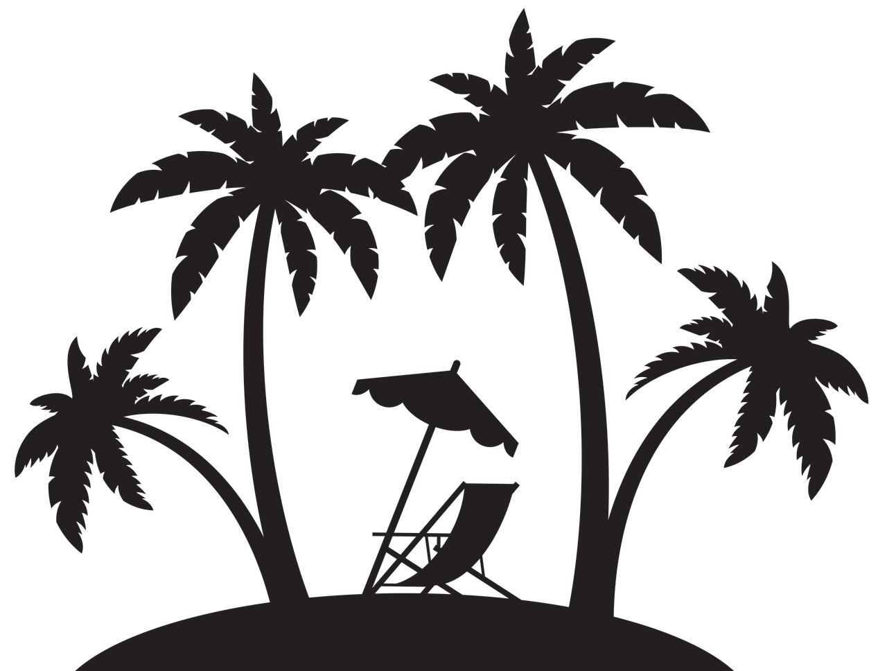 Vacation Beach Ocean Relax Vacation Vacation Beach Ocean Relax Vacation Palm Tree Silhouette Silhouette Clip Art Beach Silhouette