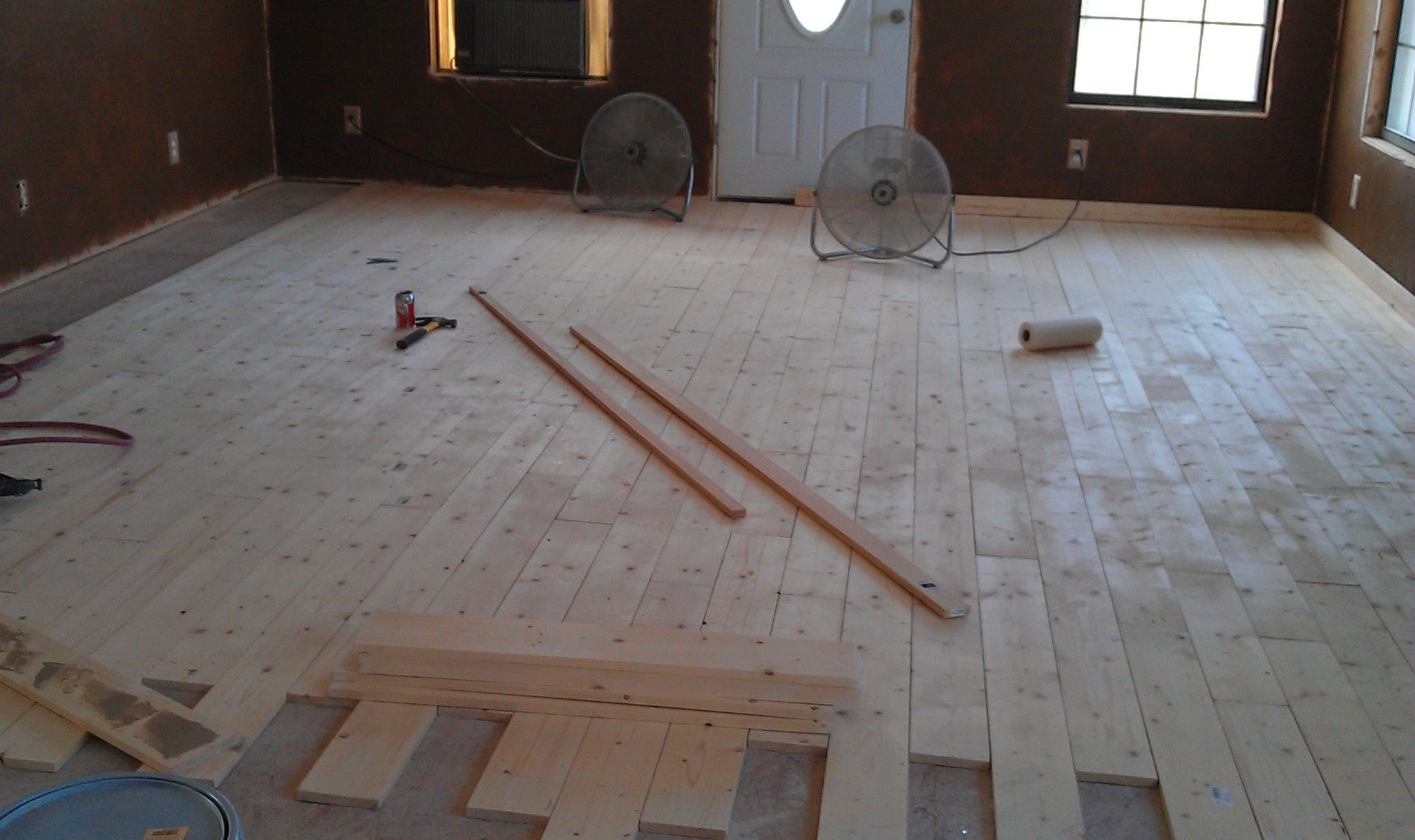 Flooring From 1x6 Lumber 1 25 Sq Ft Locally Which Means My 2400 Sq Ft Dream Home Would Only Cost About 2500 Plus Stain Flooring Lumber Rustic Kitchen