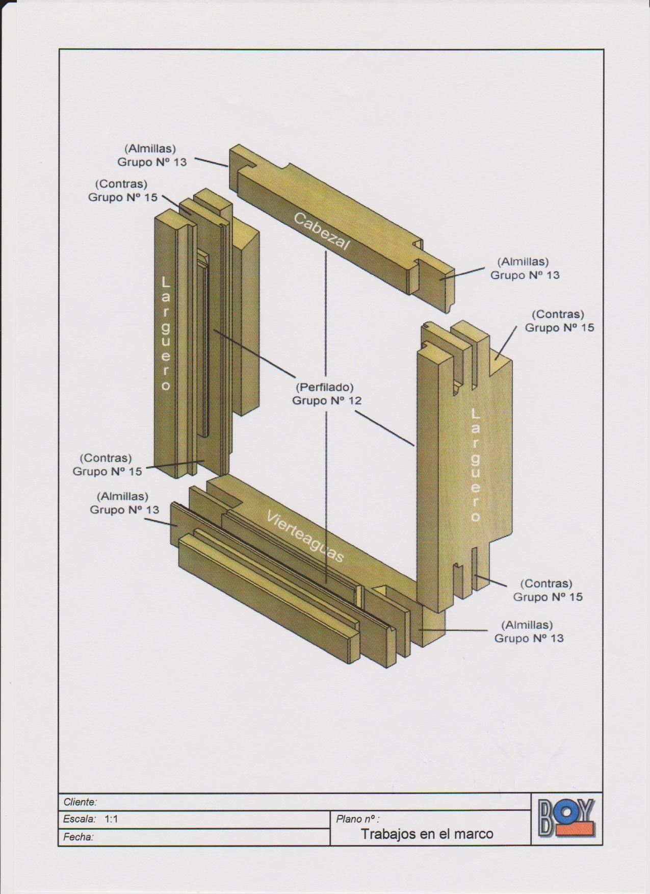ensamblaje perfil europeo sistema marco   ventanas madera maciza ...