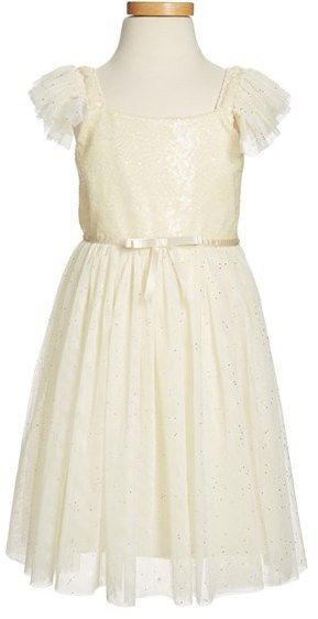 99b3952a Popatu Sequin Bodice Tulle Dress (Toddler Girls, Little Girls & Big Girls)