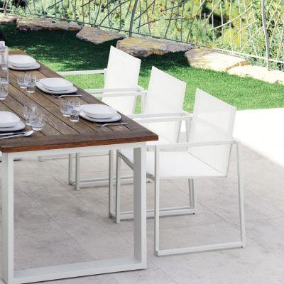 Elegant Set 4 Stühle Aus Modernen Essence Aluminium Garten