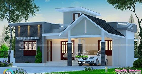 Square feet low cost kerala model single floor house plan by dream form also bedroom budget in plans rh pinterest