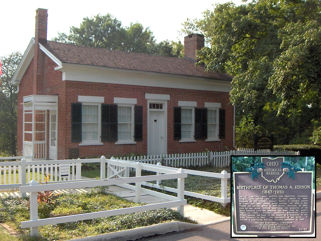 Edison Birthplace In Milan Ohio Born In 1847 And Died In 1931 Outdoor Decor Edison Here S The Thing