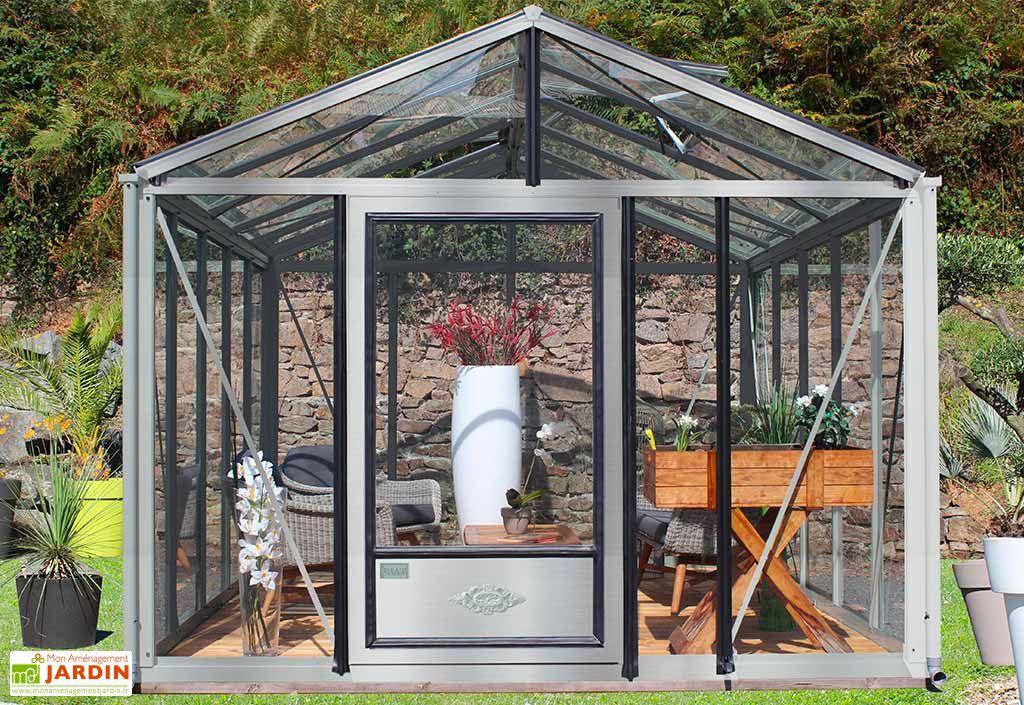 Serre De Jardin En Aluminium Et Verre Trempe Supra 12 M En 2020 Serre Jardin Serre En Verre Serre