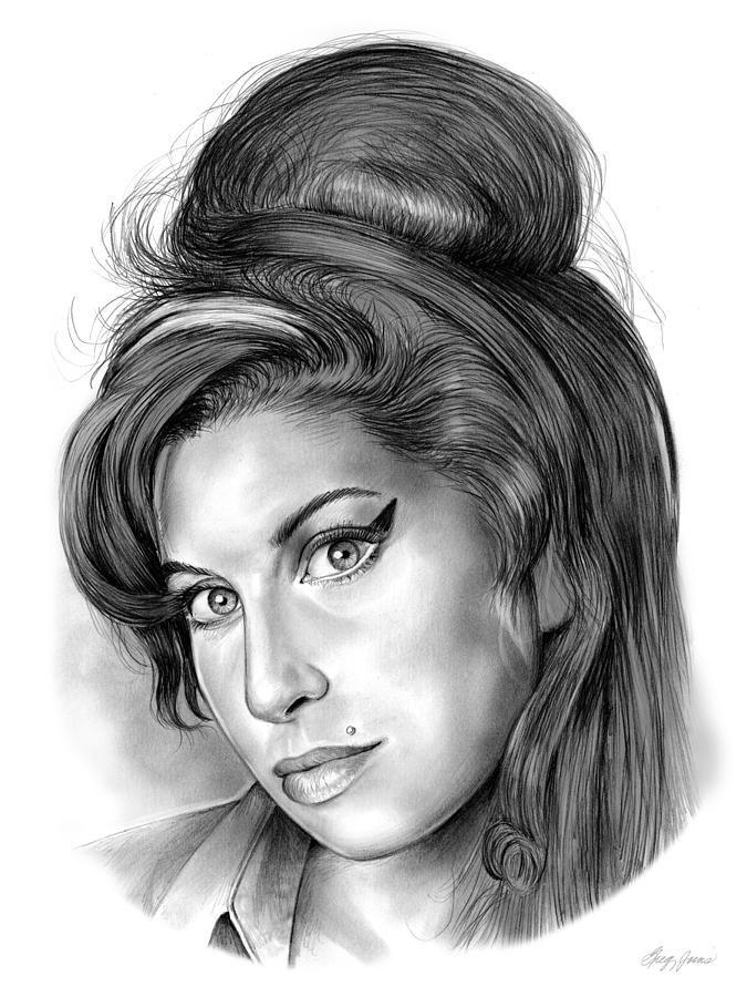 Singer Drawing - Amy Winehouse by Greg Joens | Art | Amy ...