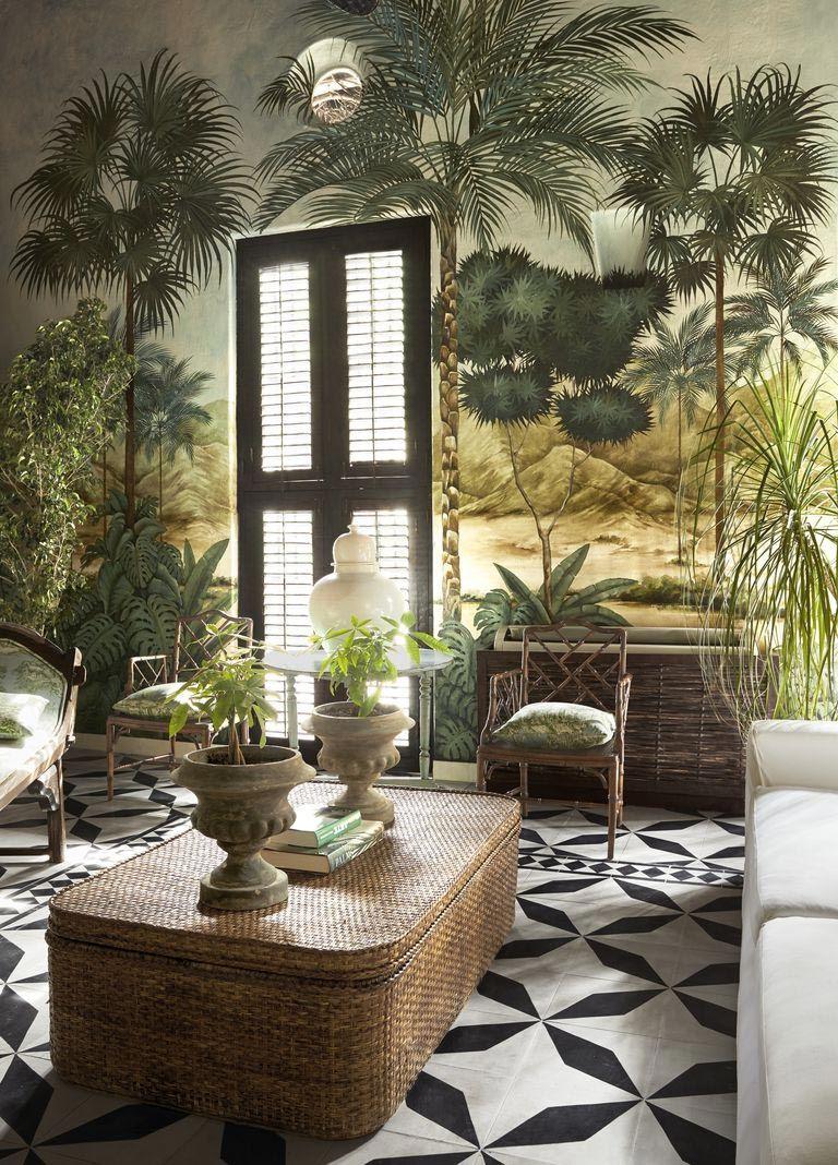 Decoracion Salon Estilo Tropical
