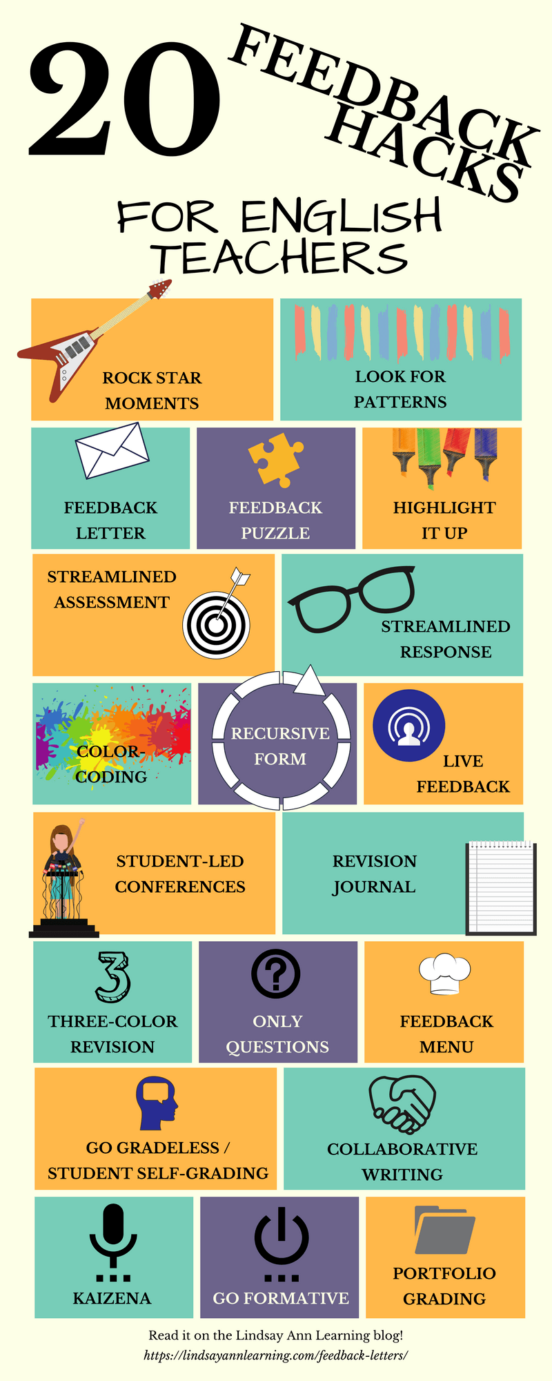 20 must try feedback strategies for english teachers pinterest 20 strategies for writing feedback feedback hacks for english teachers expocarfo Image collections