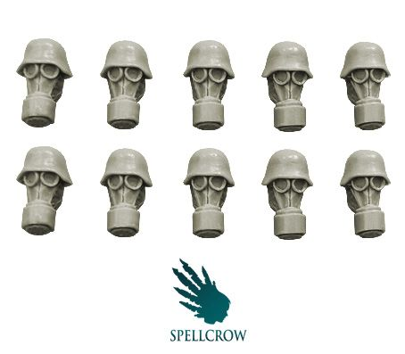 Guards - Blitzkrieg Guards Heads in Gas Masks - SPELLCROW