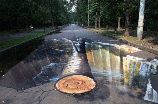 Seni Jalanan Jalan Yang Putus Seni Jalanban 3d 3d Art Street Art