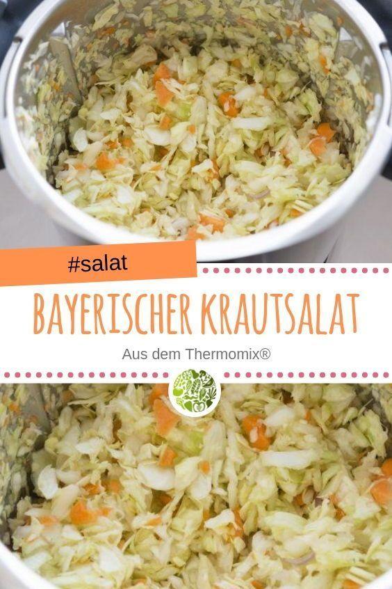 Bayerischer Krautsalat aus dem Thermomix® #crockpotchickeneasy