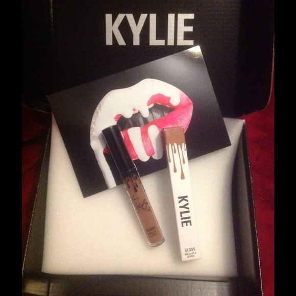 Kylie Lip Gloss in LIKE. With new applicator! This is a pretty warm mocha shade from her first lip gloss collection.  Brand new never used! Kylie Cosmetics Makeup Lip Balm & Gloss