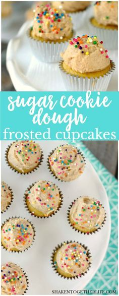 Mini Sugar Cookie Dough Frosted Cupcakes