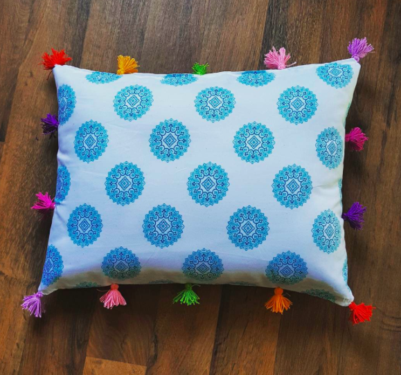 Another DIY boho pillow by yours truly :)