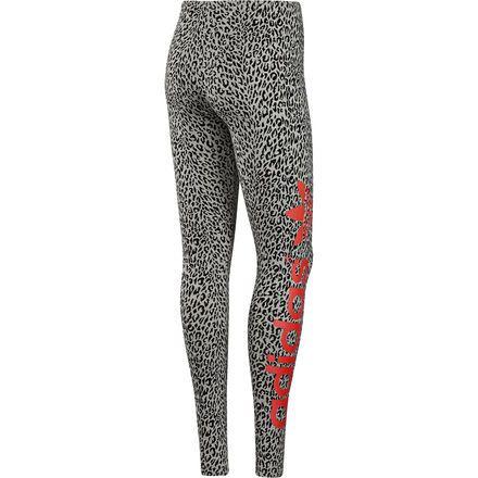 Women's B-ball Leopard Leggings, Medium Grey Heather, zoom #fashionrunningtights #runningtights #printedrunningtights