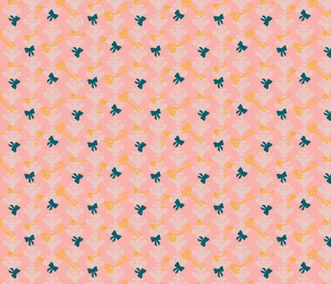 Wonderlandpink fabric by viewfromtheskye on Spoonflower - custom fabric