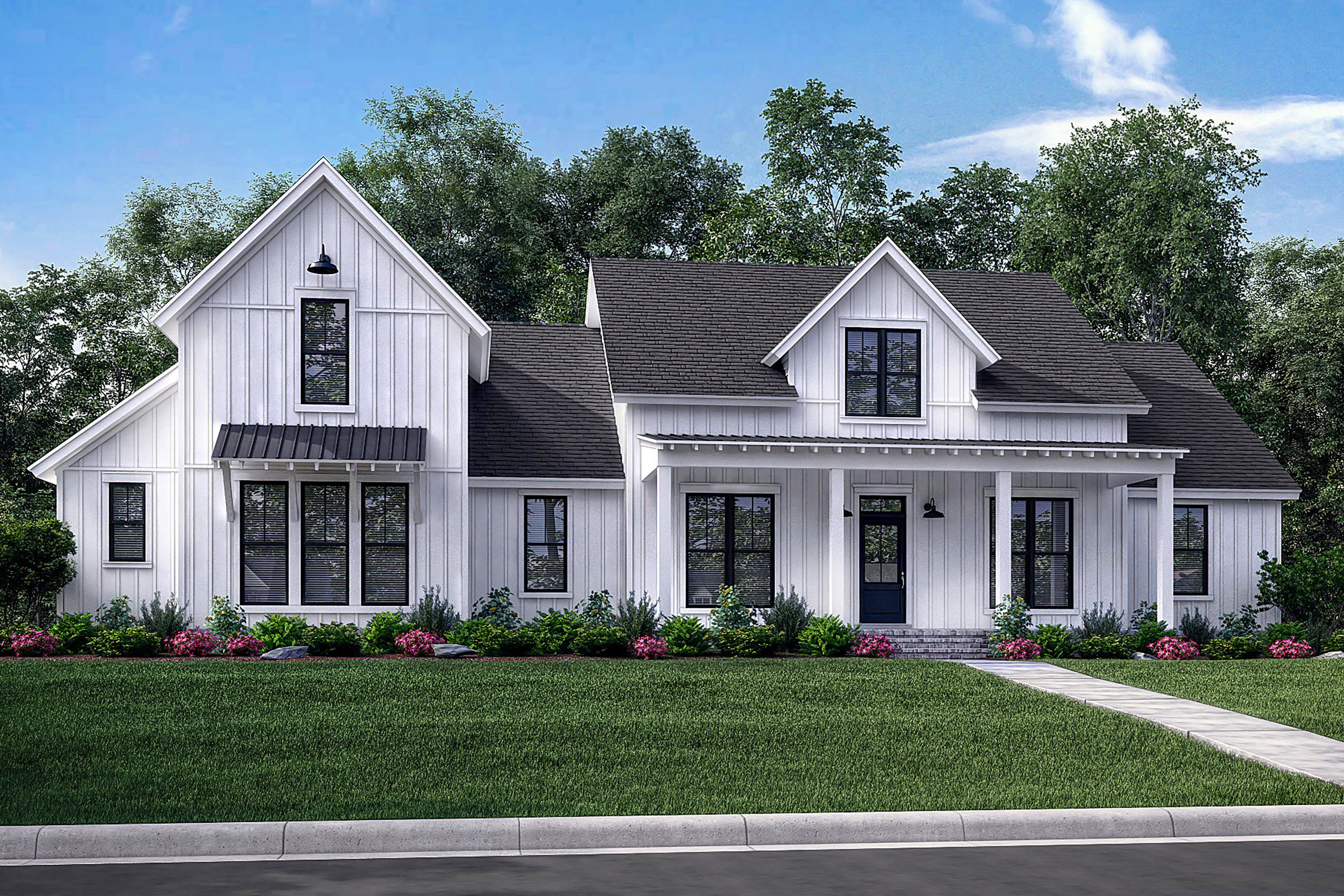 Meadow Land House Plan House Plan Zone In 2020 Farmhouse Style House Plans Farmhouse Style House Modern Farmhouse Plans