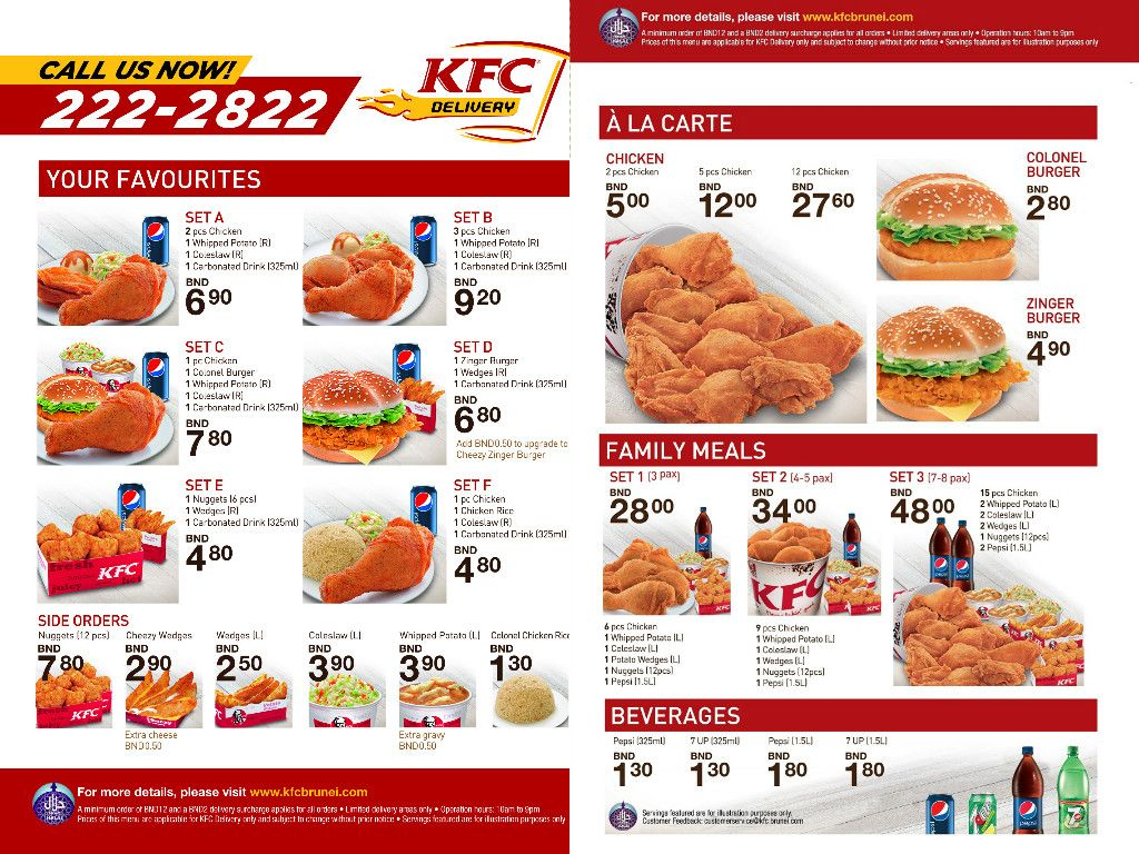 Delivery | KFC Brunei | Projects to Try | Projects, Projects to try ...