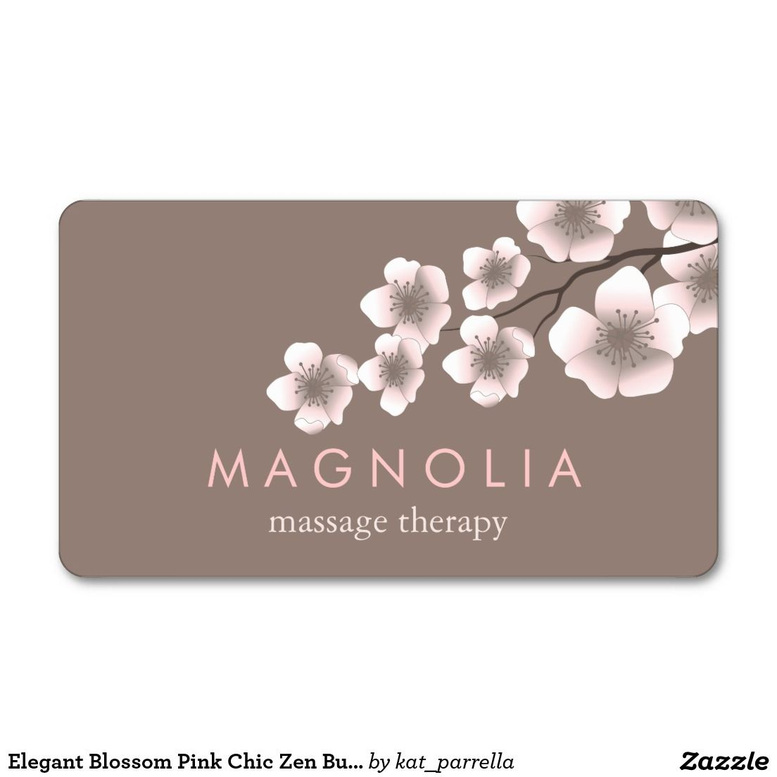 Elegant Blossom Pink Chic Zen Business Card | BusinessCardChic ...