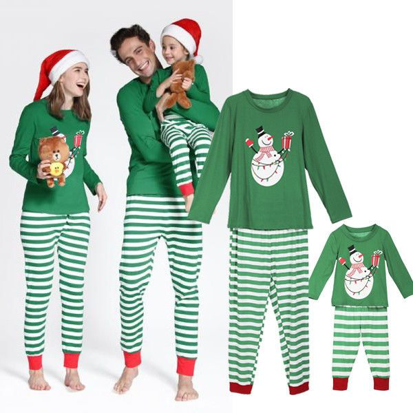 Christmas Family Matching Pajamas Set Adult Kids Snowman Pjs Sleepwear  Nightwear  fashion  clothing  shoes  accessories  womensclothing   intimatessleep ... 4e8759d9a