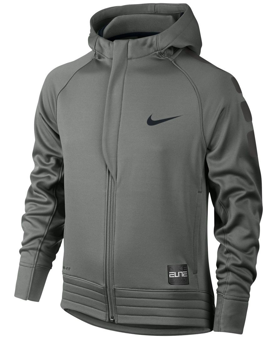 73e1396545 Nike Boys  Elite Stripe Zip-Up Hoodie