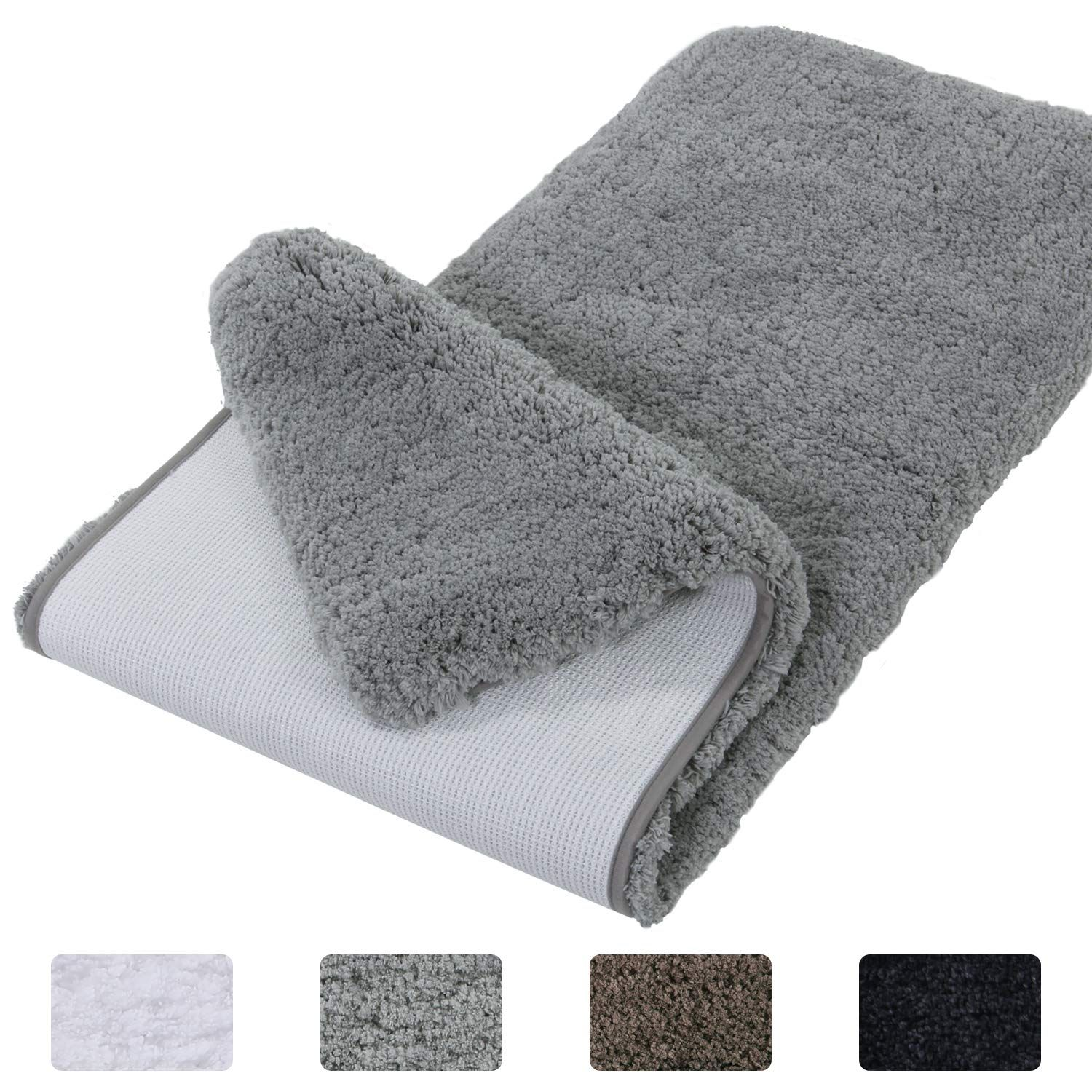 Lifewit Bathroom Rug Bath Mat Nonslip Rubber Microfiber Soft Water Absorbent Thick Shaggy Floor Mats Machine Washabl Bath Rugs Long Bathroom Rugs Bathroom Rugs