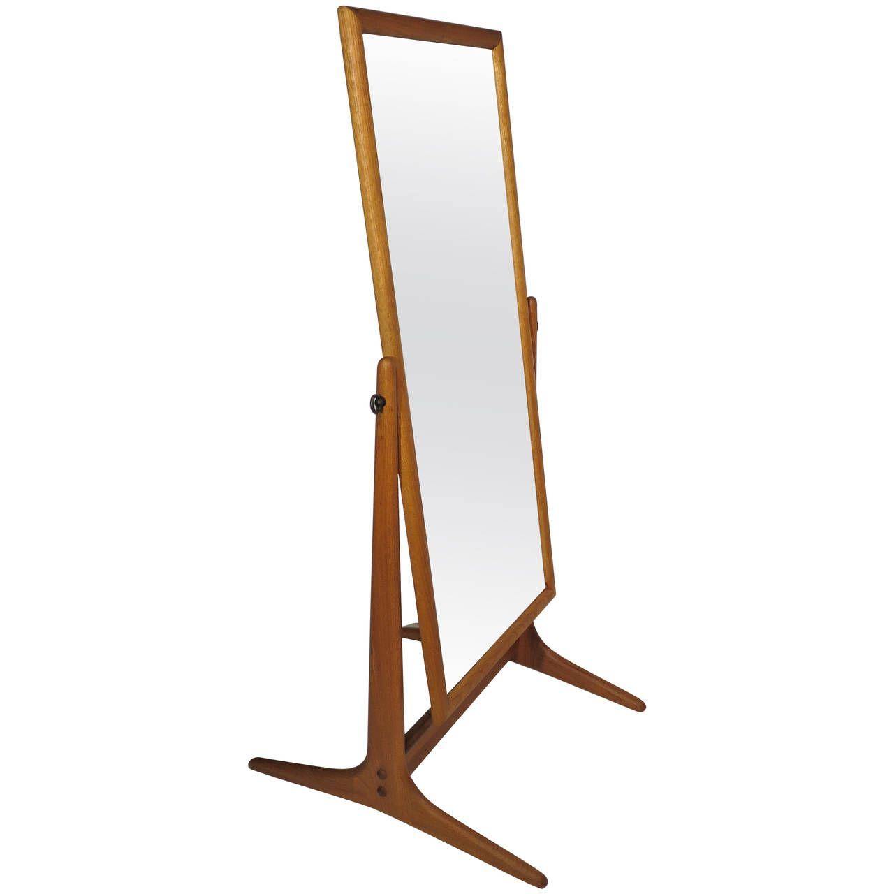 Mid-Century Cheval Floor Mirror | Modern floor mirrors, Mirror floor ...