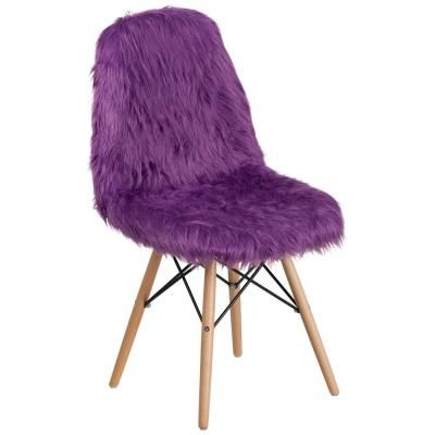 Best Flash Furniture Shaggy Dog Purple Accent Chair Blue 400 x 300