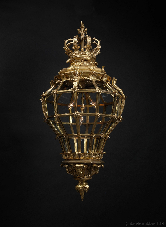 HENRY VIAN (1860-1905)  A Large Gilt-Bronze Hall Lantern after the Model for Versailles