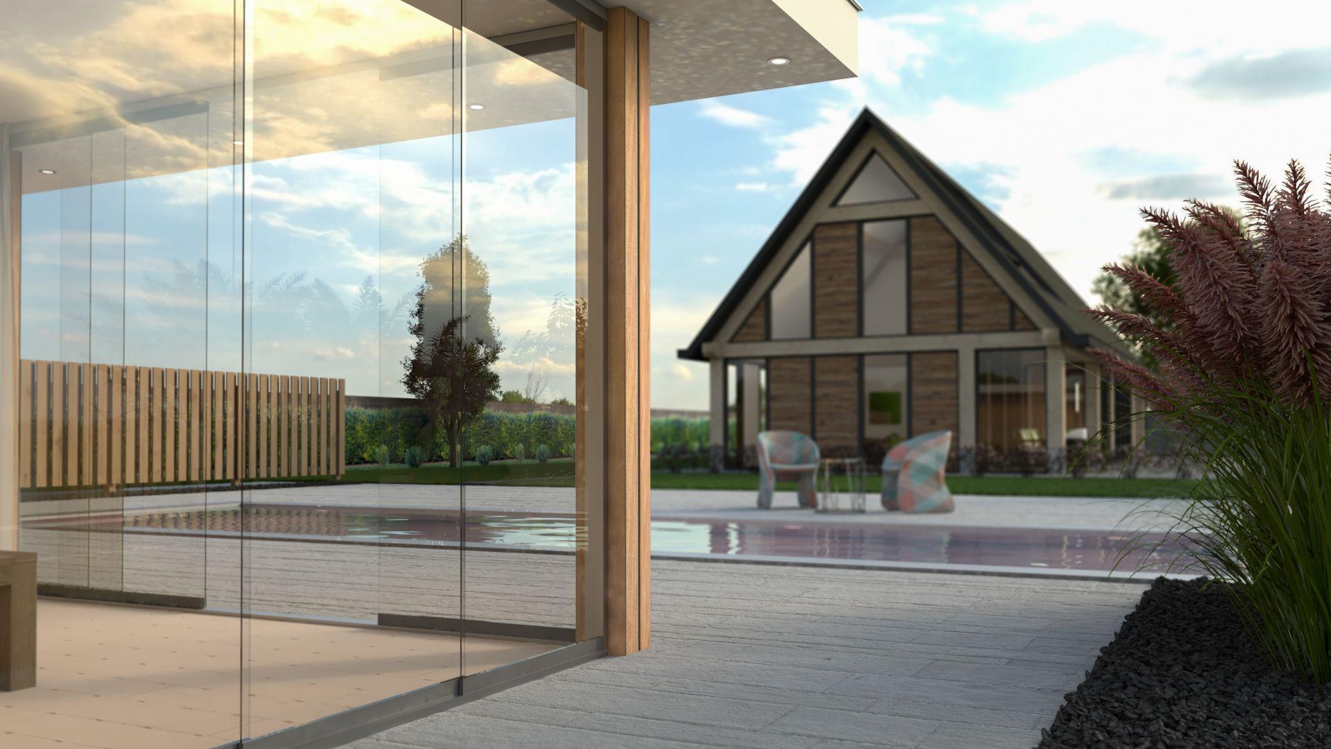 Modern architectonische poolhouse tuinhuis pinterest opslag