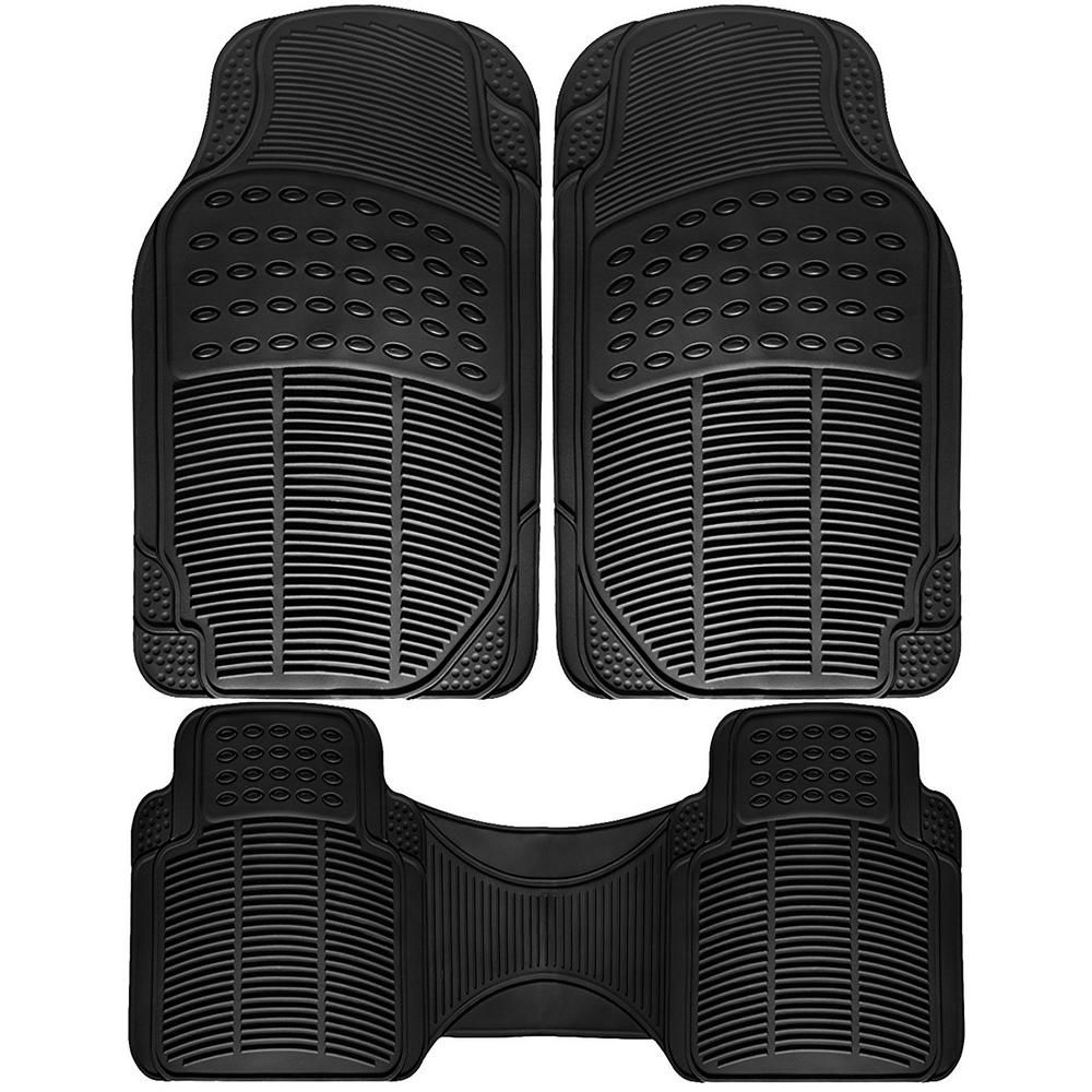 OxGord Universal Fit Black 3Piece Full Set Ridged Heavy