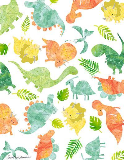 Print pattern surtex cartoon - Paperboy dinosaur wallpaper ...