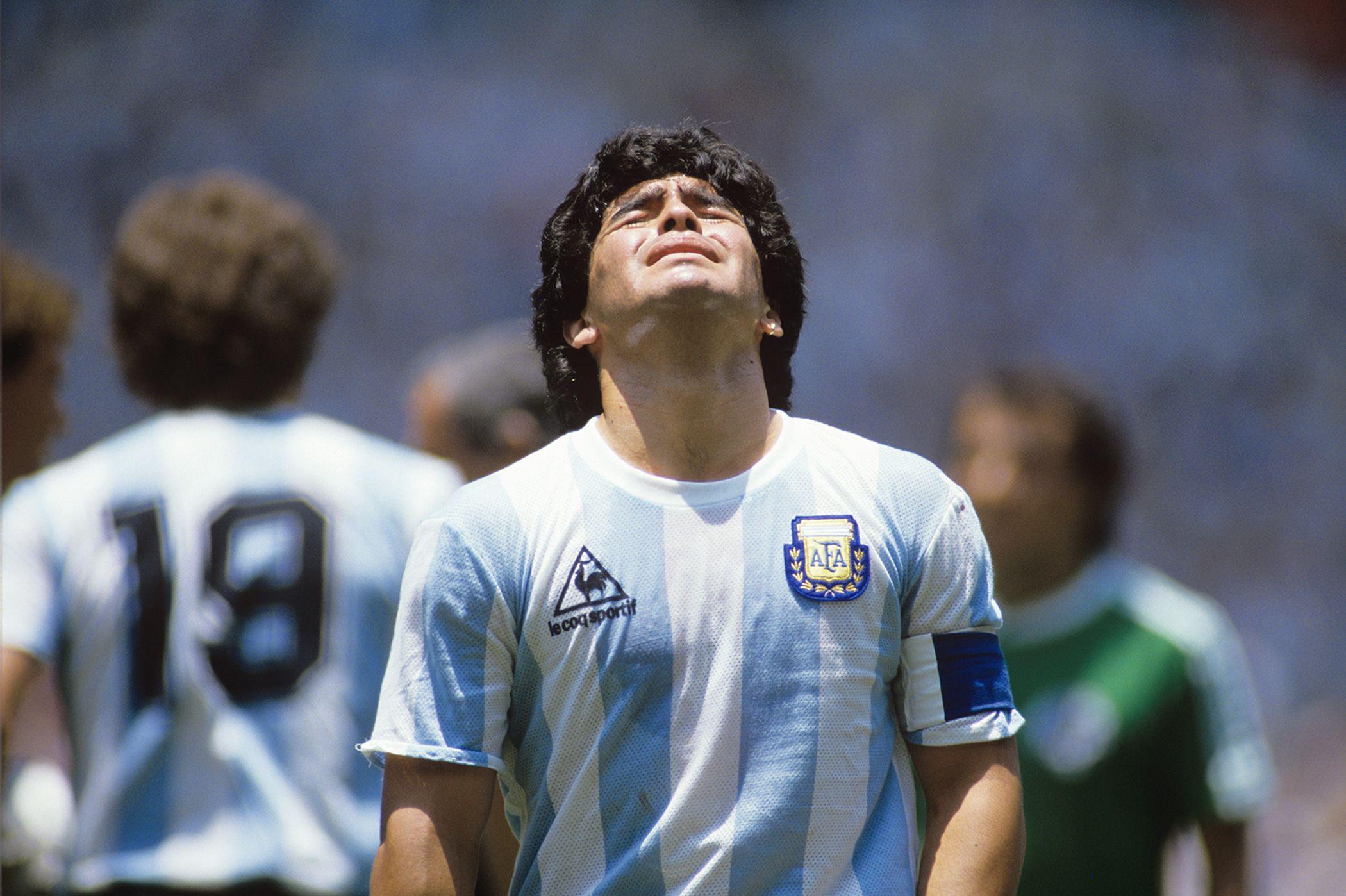 Photo Maradona, Mexico 1986 Presse Sports L'Équipe